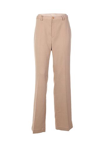 enrique vals pantalons femme de couleur beige