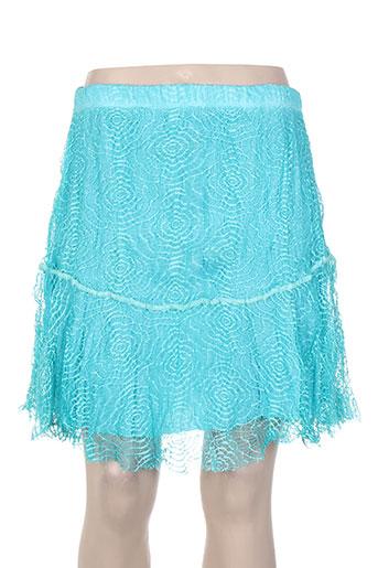 fred sabatier jupes femme de couleur bleu