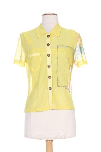 vassalli chemises femme de couleur jaune