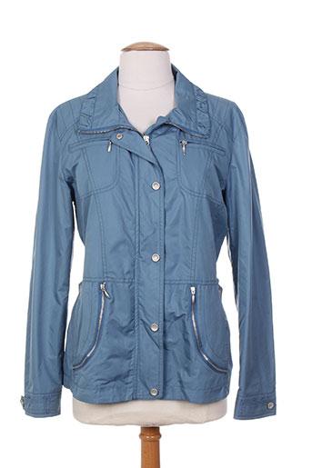 duvami manteaux femme de couleur bleu