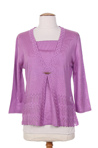 juper pulls femme de couleur violet