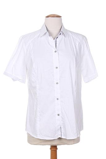 sommermann chemises femme de couleur blanc