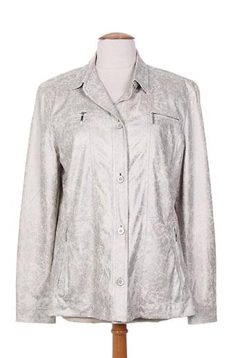 Veste casual gris DUVAMI pour femme