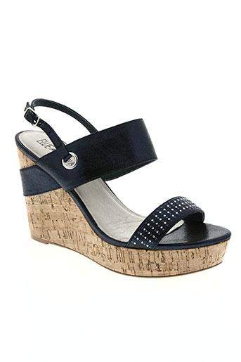 elue par nous chaussures femme de couleur bleu