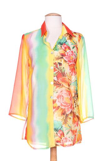 quattro chemises femme de couleur jaune