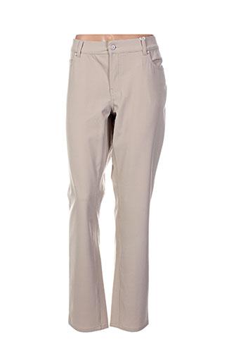 cmk pantalons femme de couleur beige
