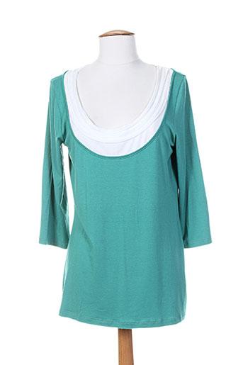 sergio ferrazzi t-shirts femme de couleur vert