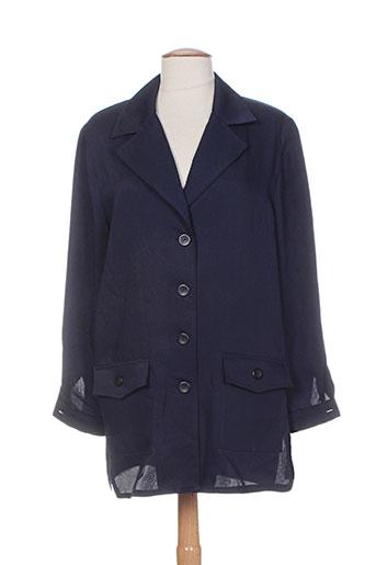 carole richard vestes femme de couleur bleu