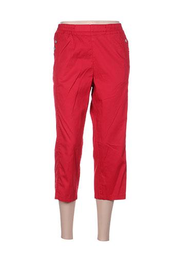 didadi pantacourts femme de couleur rouge