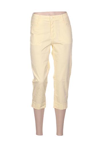 youline pantacourts femme de couleur jaune