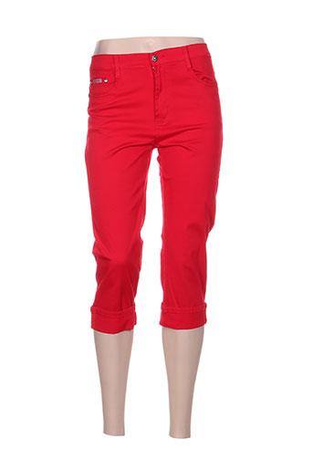 yzy pantacourts femme de couleur rouge