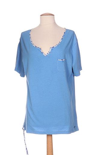 bleu salé t-shirts / tops femme de couleur bleu