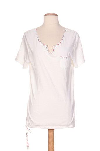 bleu salé t-shirts / tops femme de couleur blanc