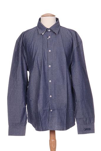 comptoir du rugby chemises homme de couleur bleu