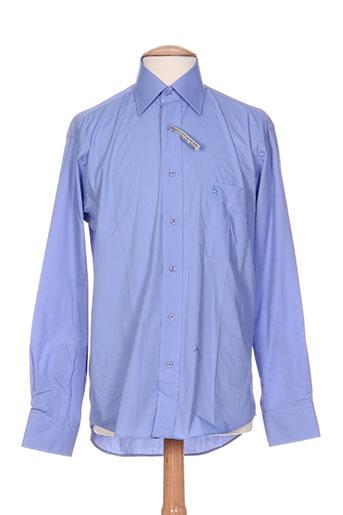 bande originale chemises homme de couleur bleu