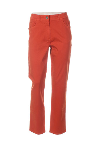 pause cafe pantalons femme de couleur orange