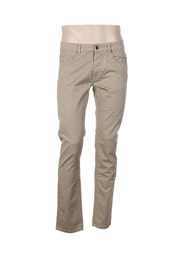 benetton pantalons homme de couleur beige