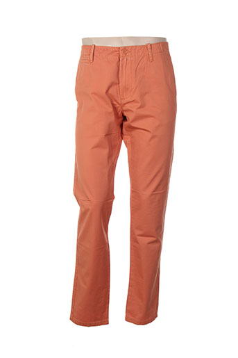 benetton pantalons homme de couleur orange