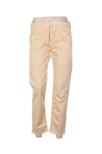 benetton pantalons femme de couleur beige