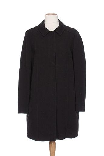 benetton manteaux femme de couleur noir