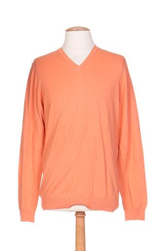 benetton pulls homme de couleur orange