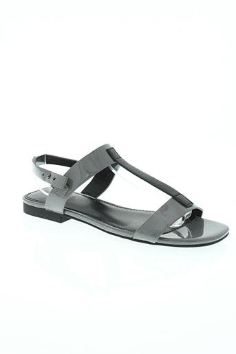 benetton chaussures femme de couleur gris