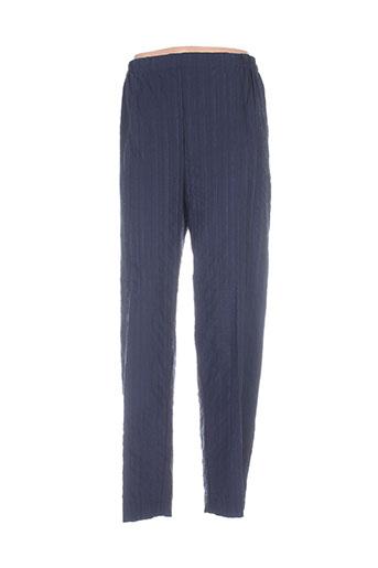 nadia pantalons femme de couleur bleu