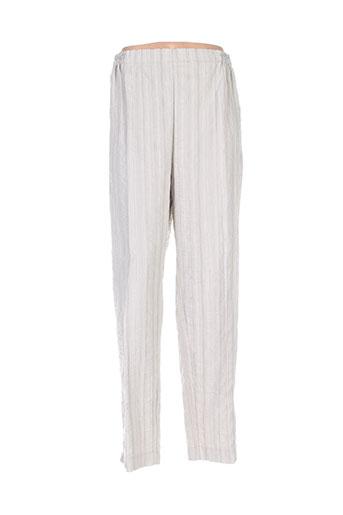 nadia pantalons femme de couleur beige