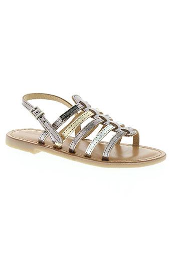 les tropeziennes chaussures fille de couleur gris