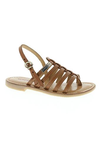 les tropeziennes chaussures fille de couleur marron