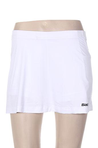 babolat jupes femme de couleur blanc