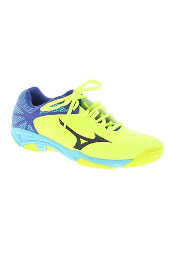 mizuno chaussures femme de couleur jaune