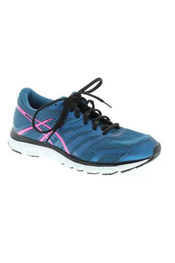 asics chaussures femme de couleur bleu