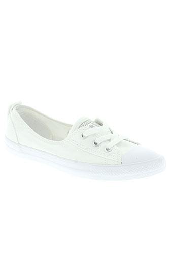 converse chaussures femme de couleur blanc