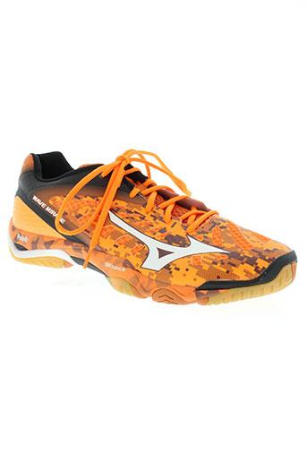 mizuno chaussures homme de couleur orange