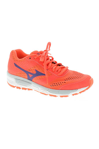 mizuno chaussures femme de couleur orange