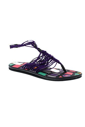 string tong chaussures femme de couleur violet