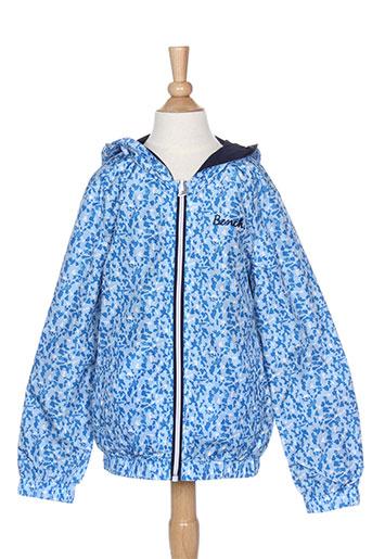bench manteaux fille de couleur bleu