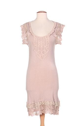 by laetitia robes femme de couleur beige