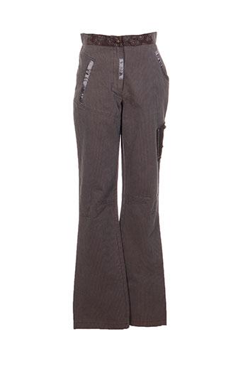 instants voles pantalons femme de couleur gris