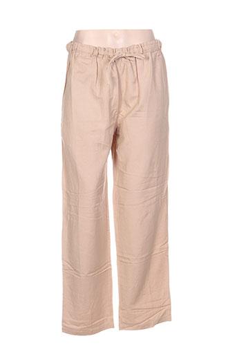Pantalon casual beige CANNA MELLIS pour femme