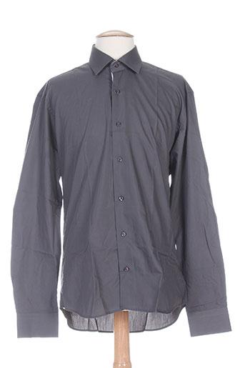 enzo di milano chemises homme de couleur gris