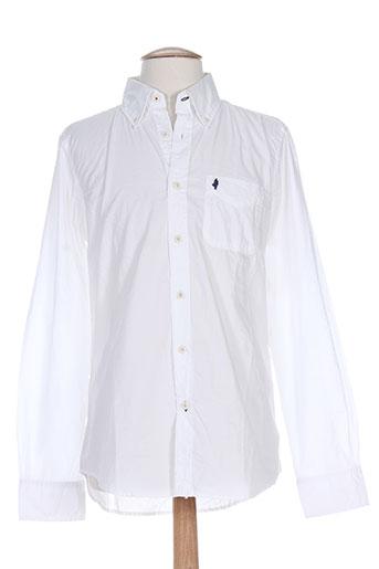 marlboro classics chemises homme de couleur blanc