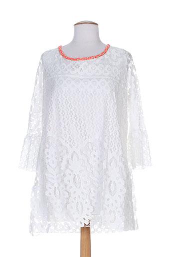 laurie EFFI_CHAR_1 joe tuniques femme de couleur blanc