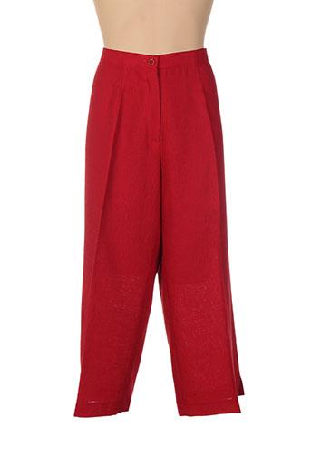 jean biolay pantacourts femme de couleur rouge