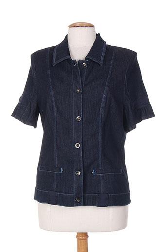 bleu de sym vestes femme de couleur bleu