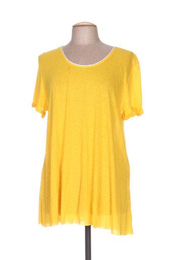 T-shirt manches courtes jaune DROLATIC pour femme