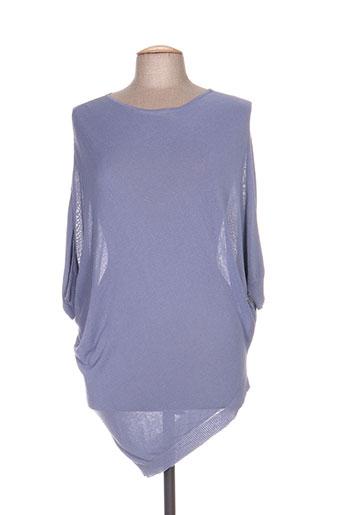 Pull tunique bleu WEEKEND MAXMARA pour femme
