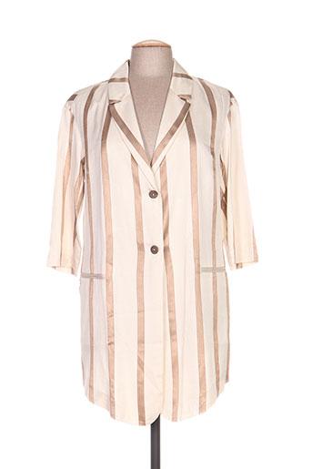 Veste chic / Blazer beige MANILA GRACE pour femme