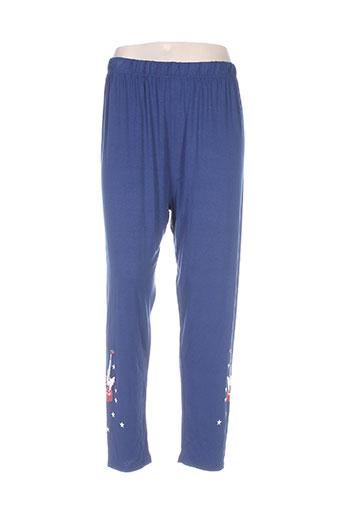 piment rouge pantalons femme de couleur bleu